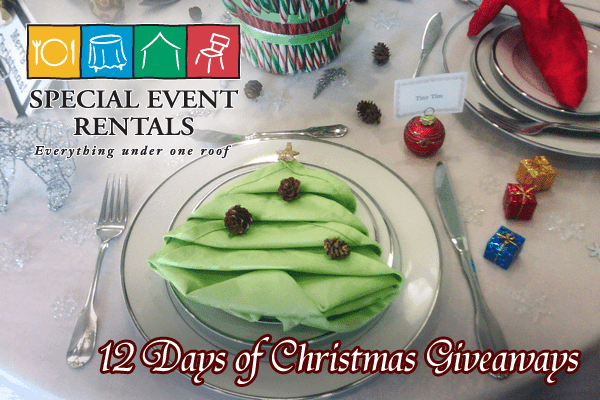 12 Days of Christmas Giveaways from Special Event Rentals