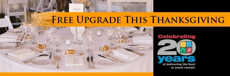 Thanksgiving Special: FREE Upgrade for All China and Cutlery
