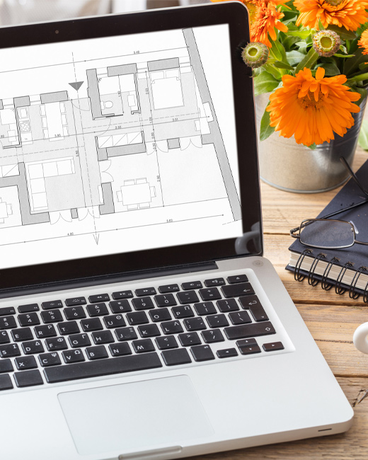 CAD Drawings on a Macbook Pro