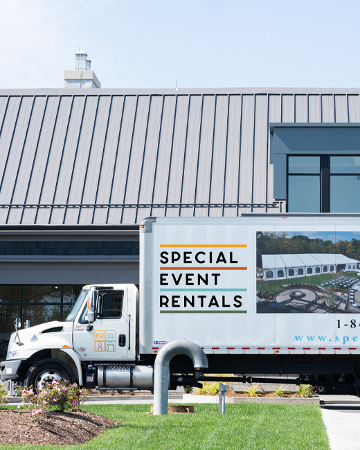 Special Event Rentals delivery truck
